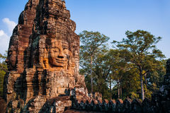 Templo Bayon Imágenes de archivo libres de regalías
