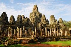 Templo Bayon por la mañana Imagenes de archivo