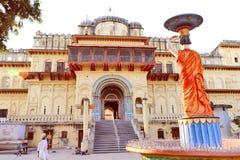 Templo bhavan de Kanak em ayodhya imagens de stock