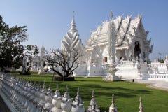 Templo blanco en Chiang Rai Foto de archivo