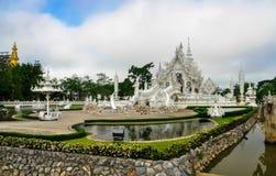 Templo blanco Wat Rong Khun Imágenes de archivo libres de regalías
