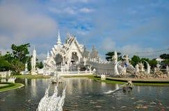 Templo blanco Wat Rong Khun Fotos de archivo