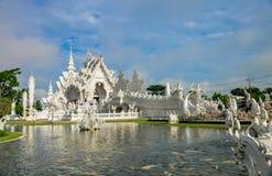 Templo blanco Wat Rong Khun Foto de archivo