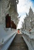 Templo blanco Wat Rong Khun Fotos de archivo libres de regalías