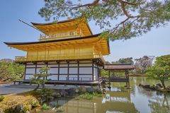 Templo bonito de Kinkaku-ji Imagem de Stock Royalty Free