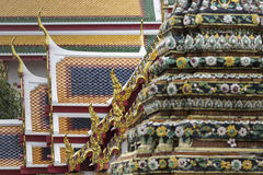 Templo bonito de Wat Pho em Banguecoque Tailândia Foto de Stock Royalty Free
