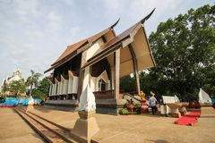 Templo bonito em Korat, Tailândia Imagem de Stock