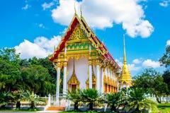 TEMPLO BONITO EM TAILÂNDIA (WAT WANG-WAH) Imagens de Stock Royalty Free