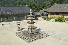 Templo bonito exterior, Coreia do Sul de Haeinsa Imagem de Stock Royalty Free