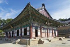 Templo bonito exterior, Coreia do Sul de Haeinsa Fotografia de Stock Royalty Free