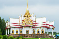 Templo branco em Tailândia Foto de Stock Royalty Free