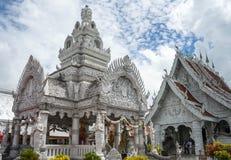 Templo branco em Tailândia Fotografia de Stock Royalty Free