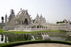 Templo branco Wat Rong Khun Foto de Stock Royalty Free