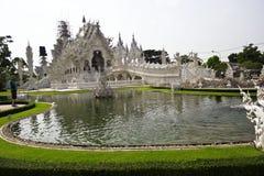 Templo branco Wat Rong Khun Imagens de Stock Royalty Free