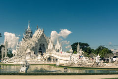 Templo branco Wat Rong Khun Imagem de Stock Royalty Free