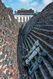 Templo Bürgermeister, die historische Mitte von Mexiko City Lizenzfreie Stockfotos