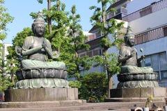 Templo Buddhas de Sensoji Imagenes de archivo
