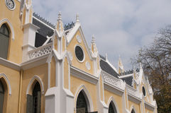 Templo budista a arquitetura da igreja (Wat Niwet Thamma Fotos de Stock