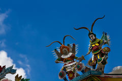 Templo budista chino antiguo, Bangkok Tailandia fotografía de archivo libre de regalías
