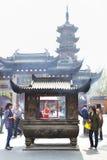 Templo budista de Jingan Imagenes de archivo