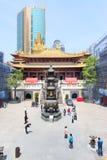 Templo budista de Jingan Imágenes de archivo libres de regalías