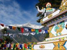 Templo budista de Kalaczakra en Dharamsala, La India foto de archivo