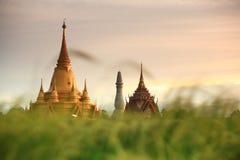 Templo budista de la pagoda de oro en Tailandia Fotos de archivo libres de regalías