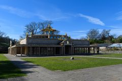 Templo budista de la paz de mundo Foto de archivo libre de regalías