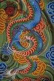 Templo budista de la pintura en Corea del Sur Fotos de archivo