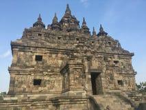 Templo budista de Plaosan Ruínas históricas Arquitetura antiga indonésia fotografia de stock