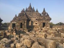 Templo budista de Plaosan Ruínas históricas Arquitetura antiga indonésia fotos de stock royalty free