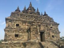 Templo budista de Plaosan Ruínas históricas Arquitetura antiga indonésia imagens de stock royalty free