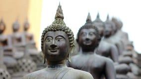 Templo budista de Sri Lanka almacen de metraje de vídeo