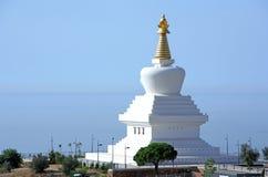 Templo budista de Stupa da iluminação em Spain foto de stock royalty free