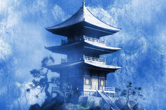 Templo budista del zen Fotos de archivo