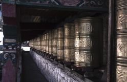 Templo budista do estilo tibetano tradicional antigo imagem de stock
