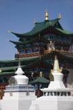 Templo budista e stupas Fotos de Stock