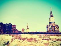 Templo budista em Ayutthaya, Tailândia Fotografia de Stock Royalty Free