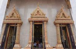 Templo budista em Banguecoque, Tailândia Imagens de Stock Royalty Free