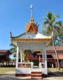 Templo budista em Don Khon fotos de stock