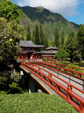 Templo budista em Oahu Havaí, Kaneohe imagem de stock royalty free