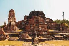 Templo budista en Ayutthaya, Bangkok Tailandia imagen de archivo libre de regalías
