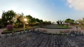 Templo budista en la isla de Bali almacen de metraje de vídeo