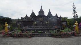 Templo budista en la isla de Bali almacen de video