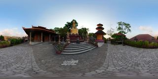 Templo budista en la isla de Bali vr360 almacen de video