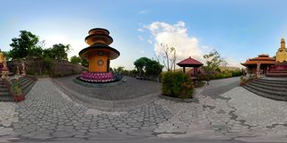 Templo budista en la isla de Bali vr360 almacen de metraje de vídeo