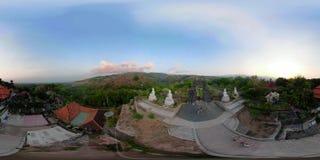 Templo budista en la isla de Bali vr360 metrajes