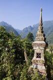 Templo budista en la prohibición Phatang, Lao People Democratic Republic Imagenes de archivo