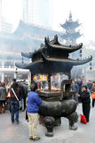 Templo budista en Shangai, China Foto de archivo