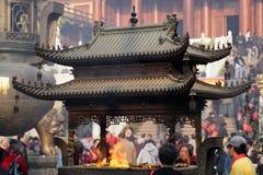 Templo budista en Shangai, China Fotografía de archivo